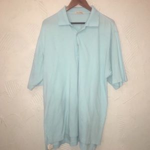 Men's Peter Millar Light Blue Polo